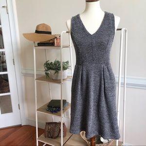 Madewell Knit Twill Terrace V-Neck Dress w/Pockets